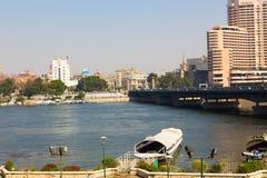 尼罗河-开罗看法  免版税图库摄影