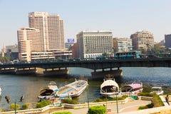尼罗河-开罗看法  库存照片