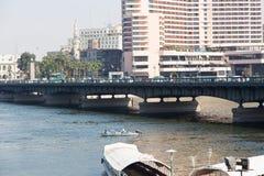 尼罗河-开罗看法  免版税库存照片