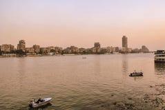 尼罗省和开罗,埃及的看法 库存照片