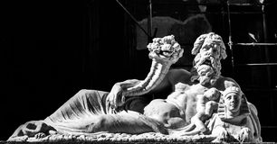 尼罗神的雕象 图库摄影