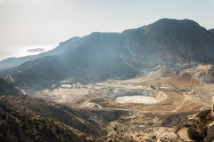 尼西罗斯岛与爱琴海的海岛火山 库存图片