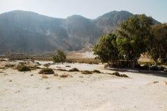 尼西罗斯岛海岛火山 免版税图库摄影