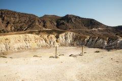 尼西罗斯岛海岛火山 免版税库存图片