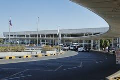 尼诺伊・阿基诺国际机场终端入口,马尼拉菲律宾 免版税库存照片