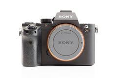 索尼阿尔法mirrorless照相机 库存图片