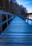 尾随脚桥梁的哥特人,瑞典步行者2018年 图库摄影