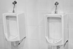 尿壶在卫生间里 免版税库存照片