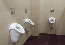 尿壶在男盥洗室 免版税库存照片