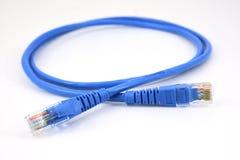 局域网头和线连接 免版税库存照片