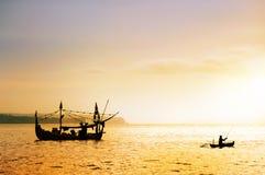 局部小船在巴厘岛 免版税库存图片