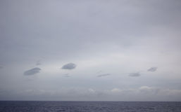 层云,中部大西洋的海洋 免版税图库摄影