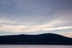层云,蒂瓦特,黑山 库存图片