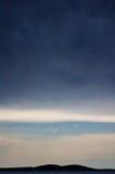 层云, Brac,克罗地亚 库存图片