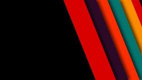 7层数减速火箭的五颜六色的转折组装 皇族释放例证