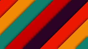 层数减速火箭的五颜六色的转折 向量例证