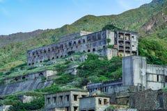 13层数留在铜精炼厂遗骸水湳洞,瑞芳Yinyang海区,新的台北,台湾 库存照片