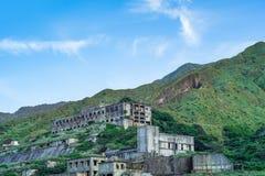 13层数留在铜精炼厂遗骸水湳洞,瑞芳Yinyang海区,新的台北,台湾 免版税库存照片