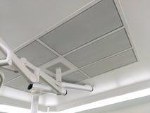 层流或HEPA过滤器供气在手术室 库存照片
