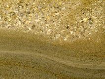 层状岩石砂岩沉积平稳的表面 库存图片