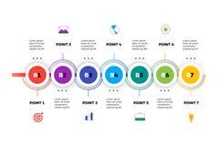 层状水平的Infographic时间安排 免版税库存图片