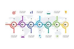 层状水平的Infographic时间安排 免版税库存照片