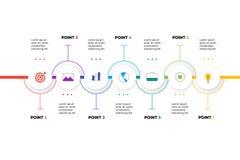 层状水平的Infographic时间安排 库存照片