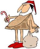 穴居人圣诞老人 库存照片