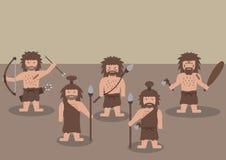 穴居人战士平的图表 库存图片