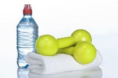 居住健康生活通过炫耀&健身 库存图片