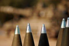居住准备好的火炮弹被射击 库存照片