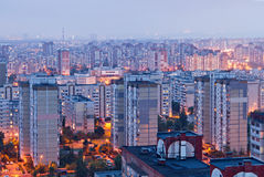居住区在基辅,乌克兰 库存图片