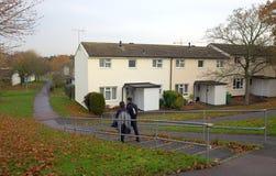 居住区在英国 免版税图库摄影