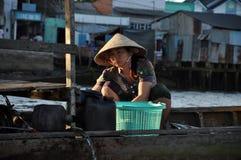 居住在家,湄公河三角洲的房子,越南 免版税图库摄影