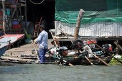 居住在家,湄公河三角洲的房子,越南 免版税库存照片
