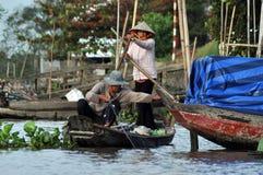 居住在家,湄公河三角洲的房子,越南 库存照片