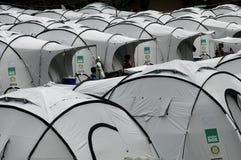居住在帐篷 库存图片