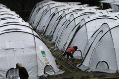 居住在帐篷 免版税库存照片