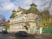 他居住并且工作画家v的房子 f Stozharov Kostroma 免版税库存照片