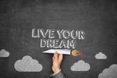居住您的梦想概念 库存照片