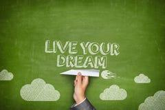 居住您的梦想概念 免版税库存照片