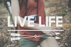 居住您的生活您一次只居住概念的YOLO 库存图片