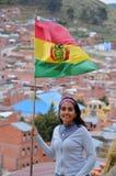 居住我的国家玻利维亚 免版税库存照片