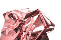 居住珊瑚,金属发光的桃红色金箔板料 免版税库存图片