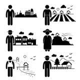 居住用不同的地方的人们 免版税图库摄影