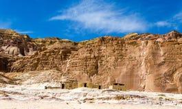 居住的流浪者在山中的沙漠在埃及宰海卜南西奈 库存图片