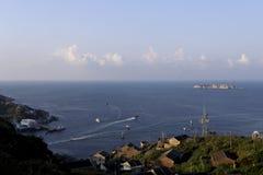 居住的海岛的中国的东端早晨 库存图片