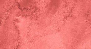 居住的珊瑚的时髦颜色水彩背景与与异常的自然离婚和条纹的 抽象框架 皇族释放例证