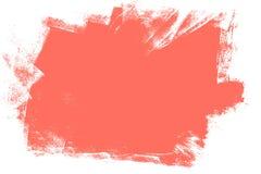 居住的珊瑚,2019年油漆冲程的颜色 库存例证