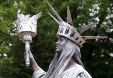 居住的自由女神像 免版税库存图片